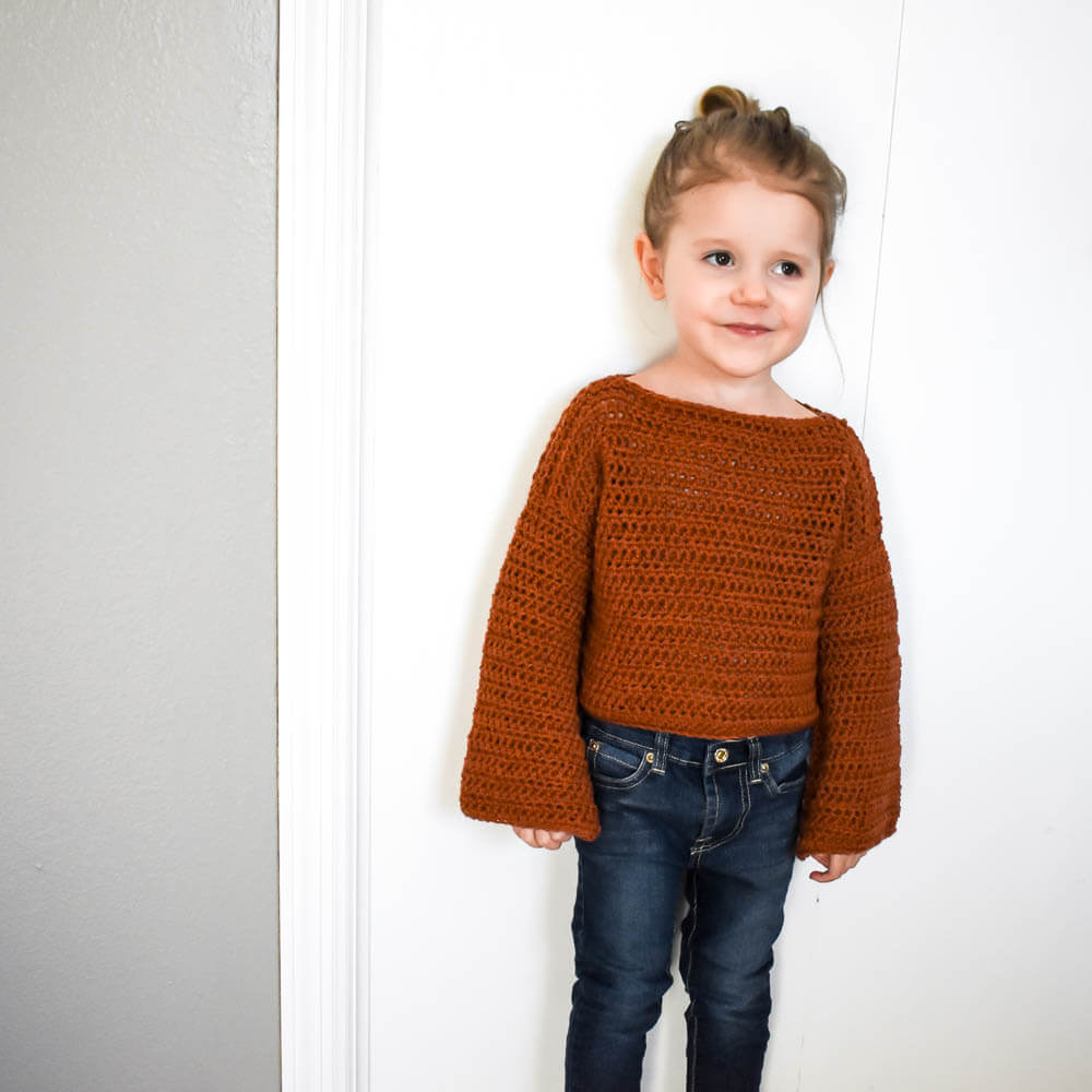 How To Make A Simple Modern Crochet Toddler Sweater Sweet Everly B