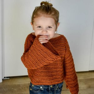 Childrens easy crochet sweater pattern that's free. Learn all the details to make your 1st crochet sweater.