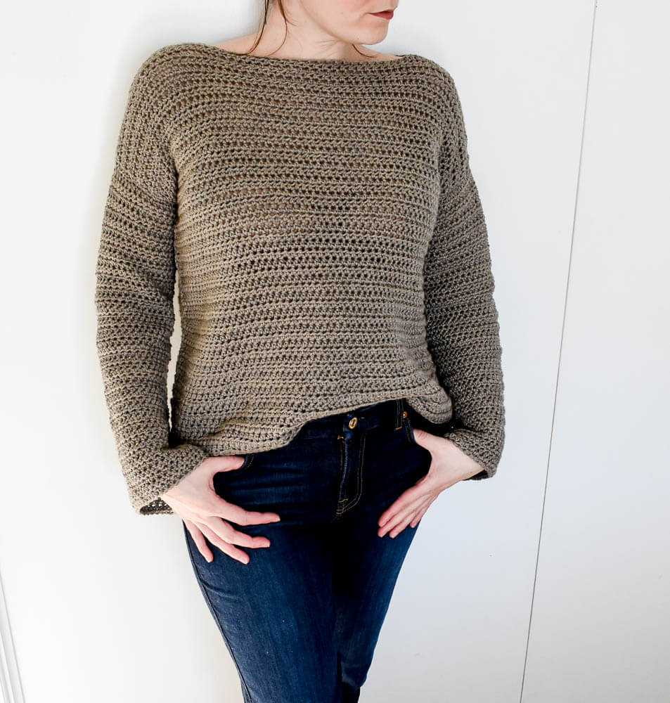 Beginner's Guide To Crocheting A Sweater + Crochet Sweater