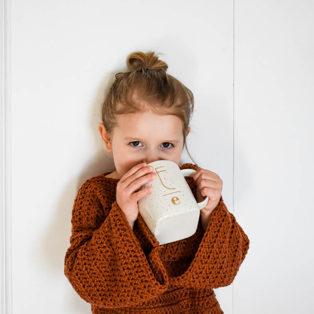A cozy modern crochet sweater pattern for toddlers, girls, and women. I can't wait to see your first crochet sweaters