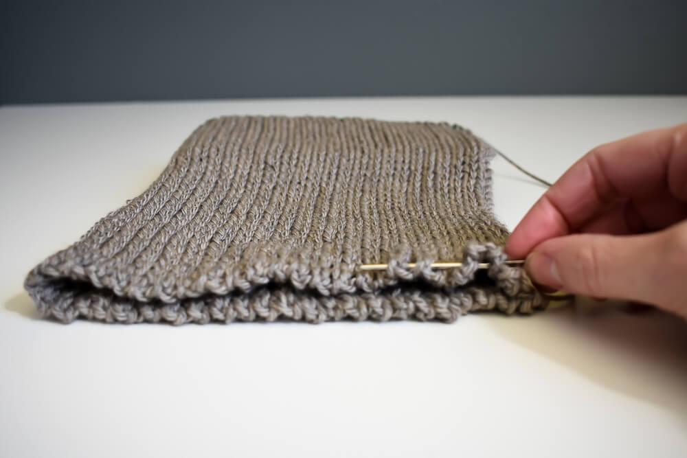 A Free Knit-Look Double Brim Crochet Beanie Pattern e757aa23af1
