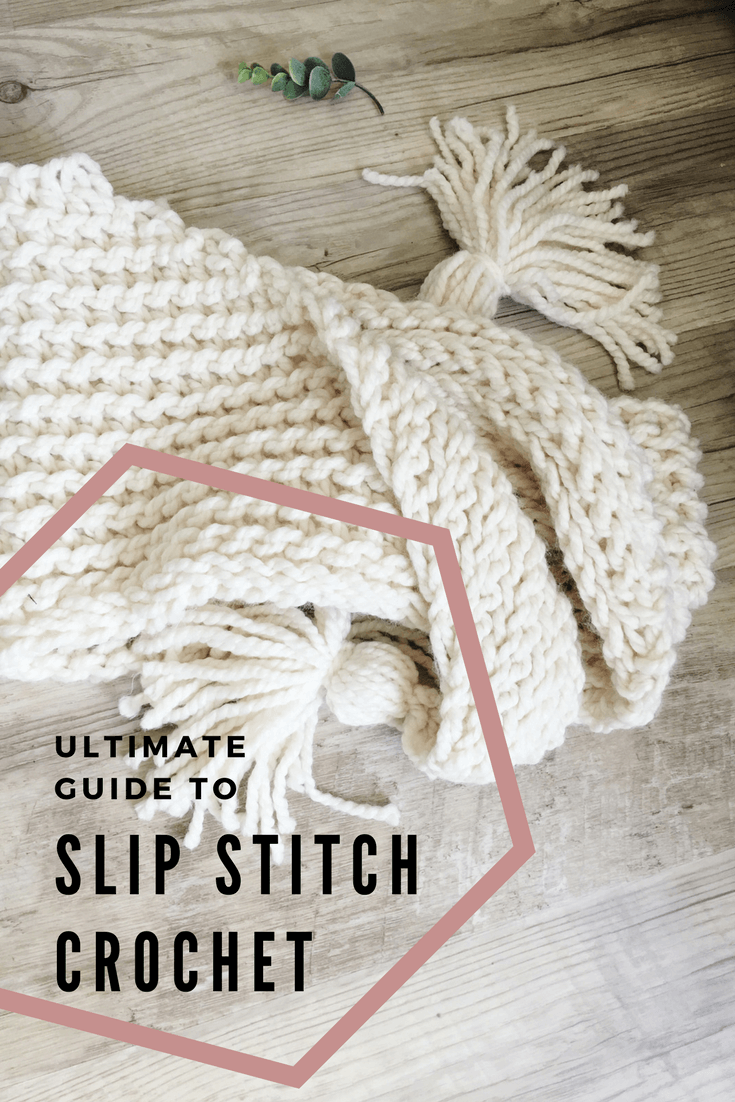 Every little detail you need to know to slip stitch crochet. How to create knit look crochet. Learn how to increase and decrease slip stitches, how to work in the front and back loops and more.