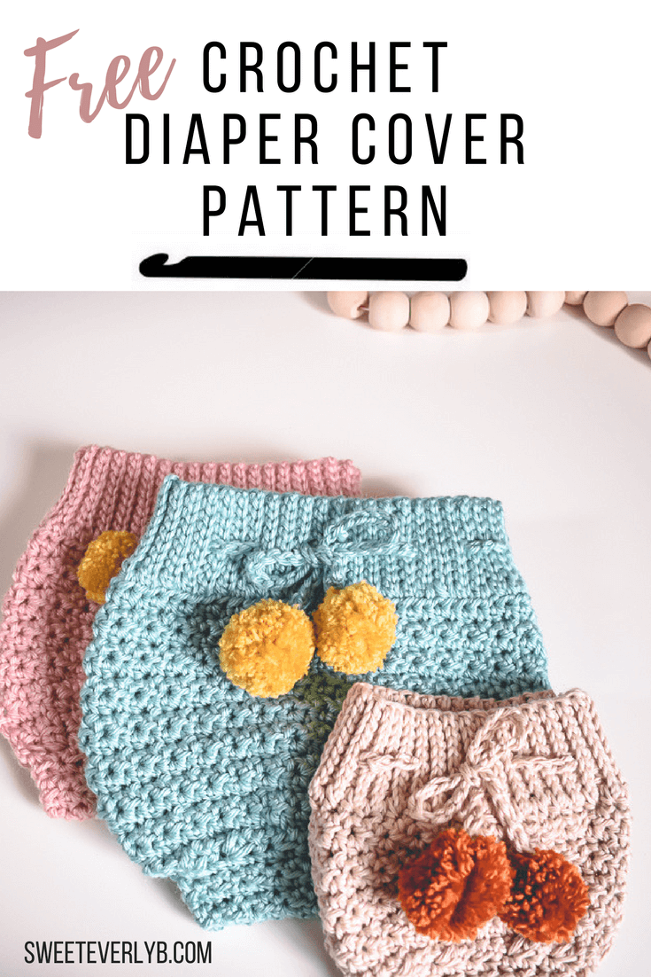 A Modern High Waisted Crochet Diaper Cover Pattern