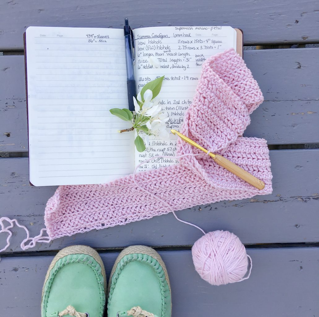 How to keep track of all your current crochet projects using a crochet project journal.