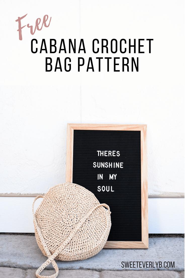 A raffia crochet bag pattern and letter board