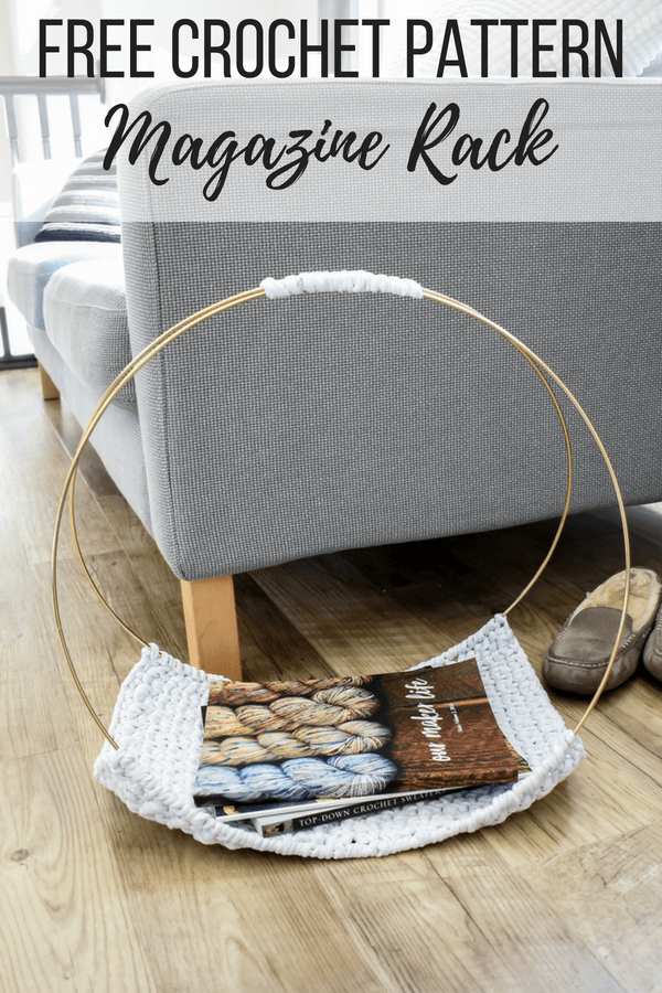 A free crochet pattern to make your own DIY magazine rack. Watch the quick video tutorial.