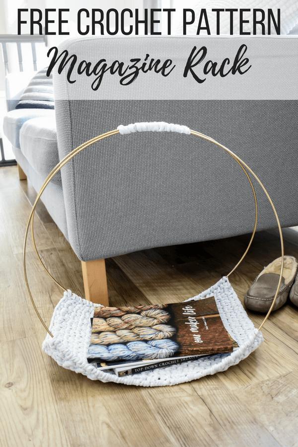 Amazing How To Crochet A Modern Diy Magazine Rack Download Free Architecture Designs Scobabritishbridgeorg