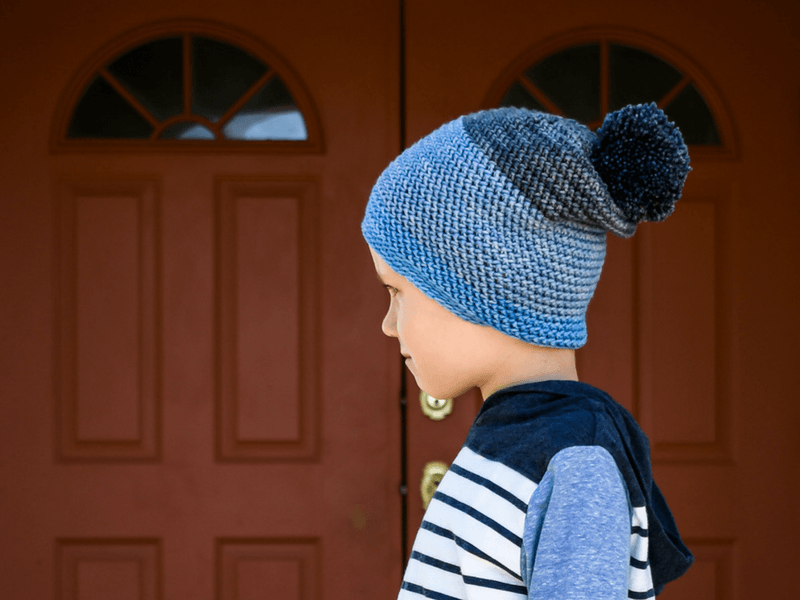 A crochet pattern for a slouchy beanie that's simple to make. DK weight yarn makes a nice thin hat for fall weather.
