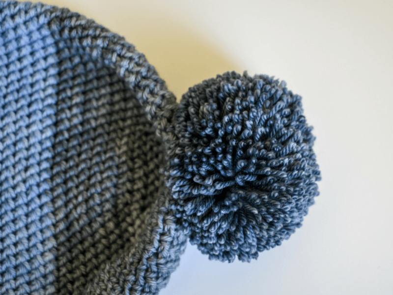 A free crochet pattern for a basic beanie. You can make it for everyone you know. All 7 sizes are free in the PDF. Love this ombre yarn.