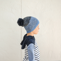 A free slouchy beanie crochet pattern for the whole family.