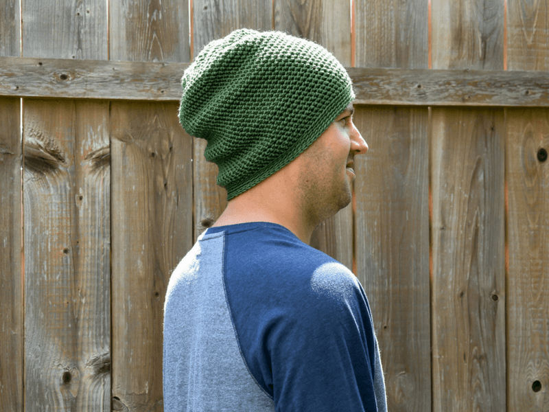 A free mens crochet beanie pattern that he'll wear everyday.