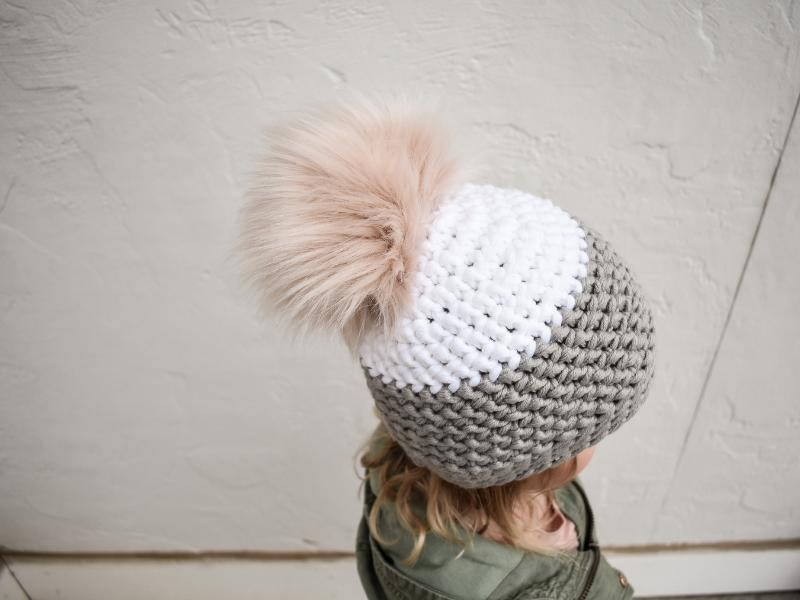 ücretsiz tığ işi çocuk şapka modeli