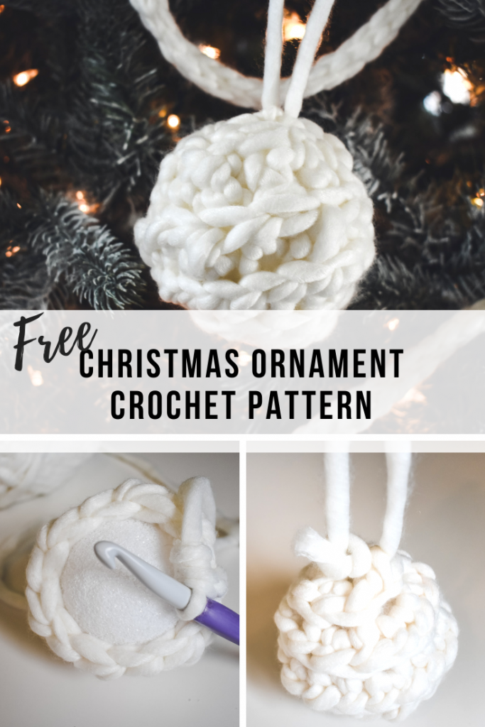 A free step by step tutorial for a crochet Christmas ornament.