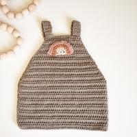 greige crochet baby dress pattern