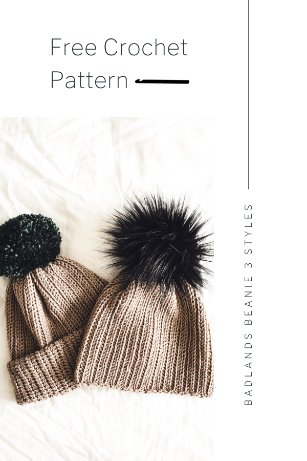a free beanie crochet pattern that's for beginners