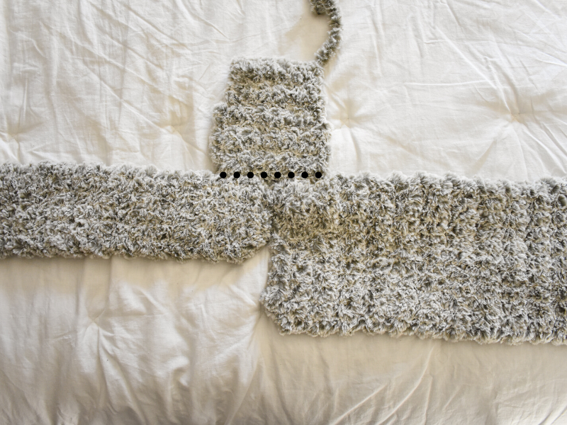 sewing sleeve onto baby snowsuit crochet pattern