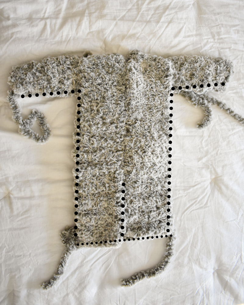 how to seam a baby bunting crochet pattern together