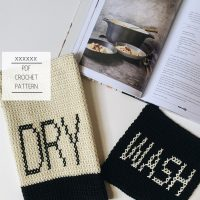 dry and wash dish towel crochet pattern